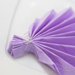 Serviette violet