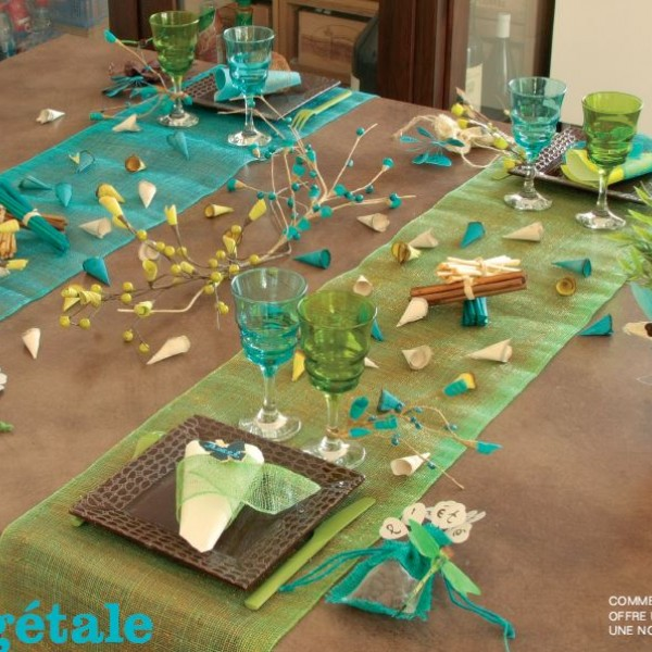 Votre chemin de table avranches un air de f te - Chemin de table lumineux ...