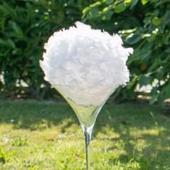 Boule de plumes blanches