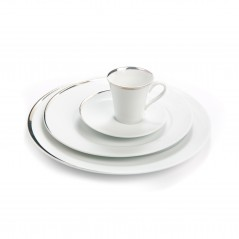 Porcelaine filet platine en location