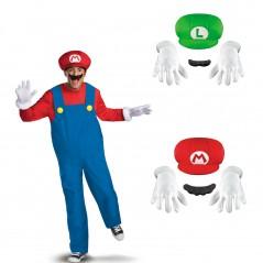 Costumes et sets de déguisements Mario et Luigi pour adultes et enfants
