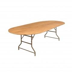 location de table en bois ovale